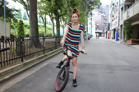 girls bike saki